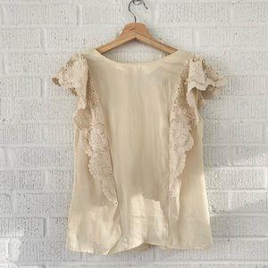 NWT Anthropologie crochet blouse